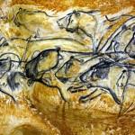 Caverne du Pont-d'Arc - Le panneau de la fresque des lions -® SYCPA - S.Gayet